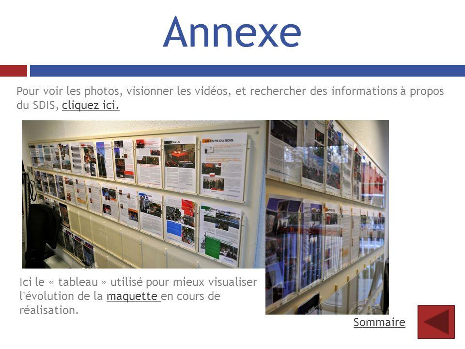 Annexe Pour voir les photos, visionner les vidéos, et rechercher des informations à propos du SDIS, cliquez ici.cliquez ici. Ici le « tableau » utilis
