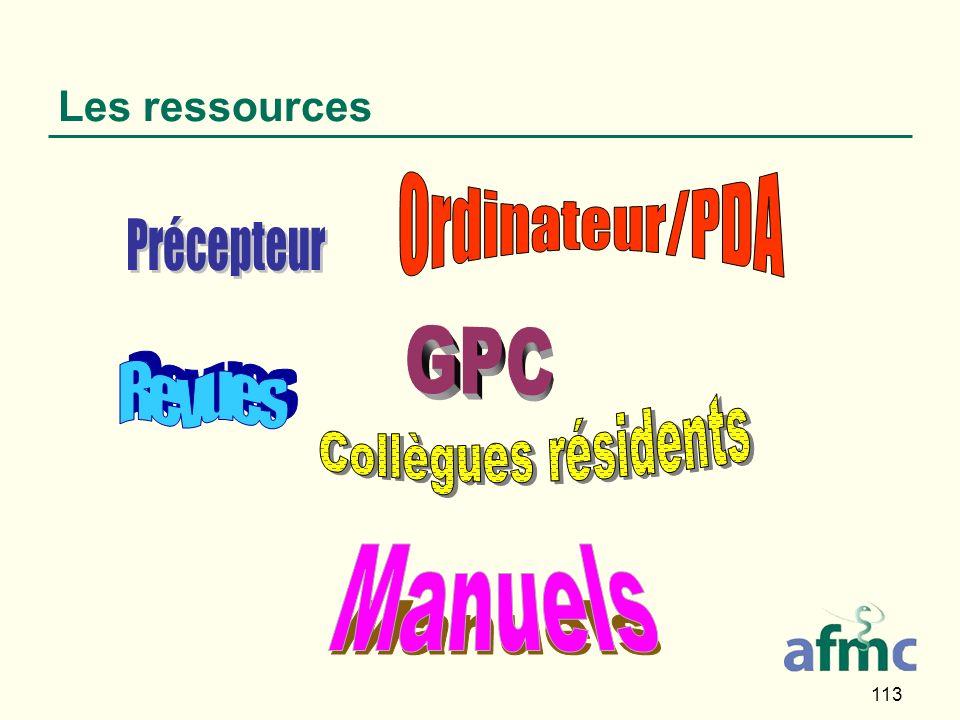 113 Les ressources