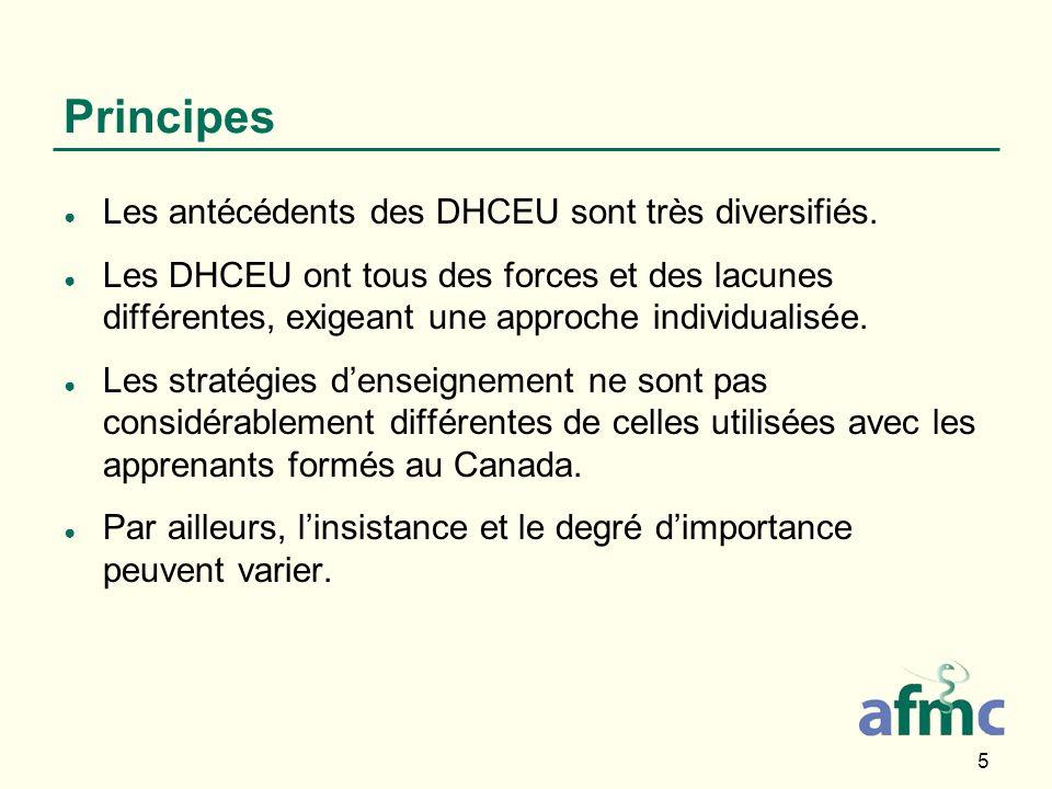 5 Principes Les antécédents des DHCEU sont très diversifiés.