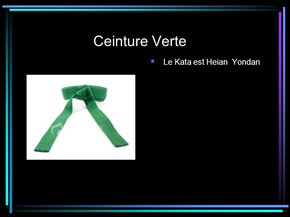 Ceinture Verte Le Kata est Heian Yondan