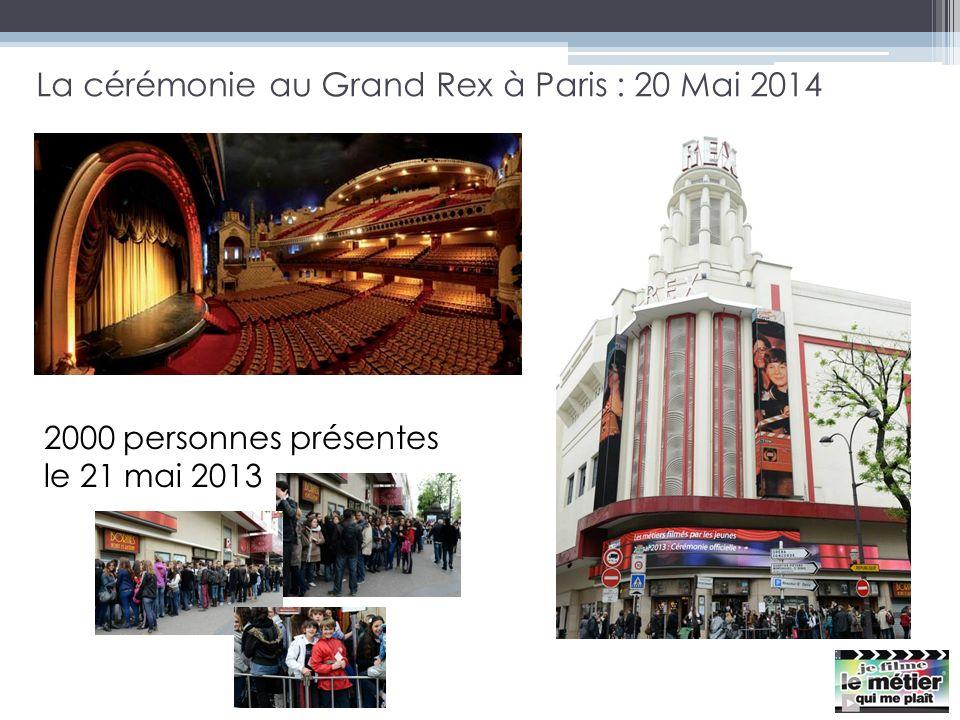 La cérémonie au Grand Rex à Paris : 20 Mai 2014 2000 personnes présentes le 21 mai 2013