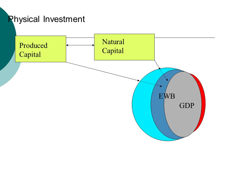 The role of the natural environment Natural Capital GDP EWB