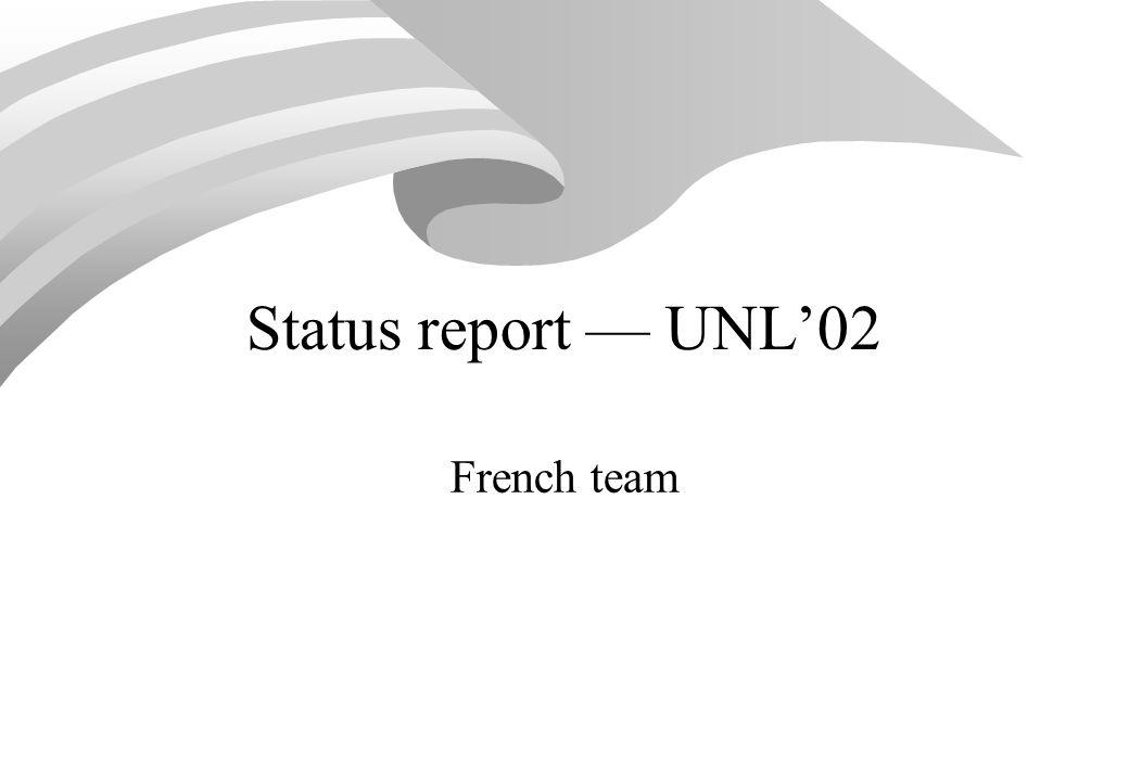 UNL evangelisation: papers (1) [1]Boitet C.