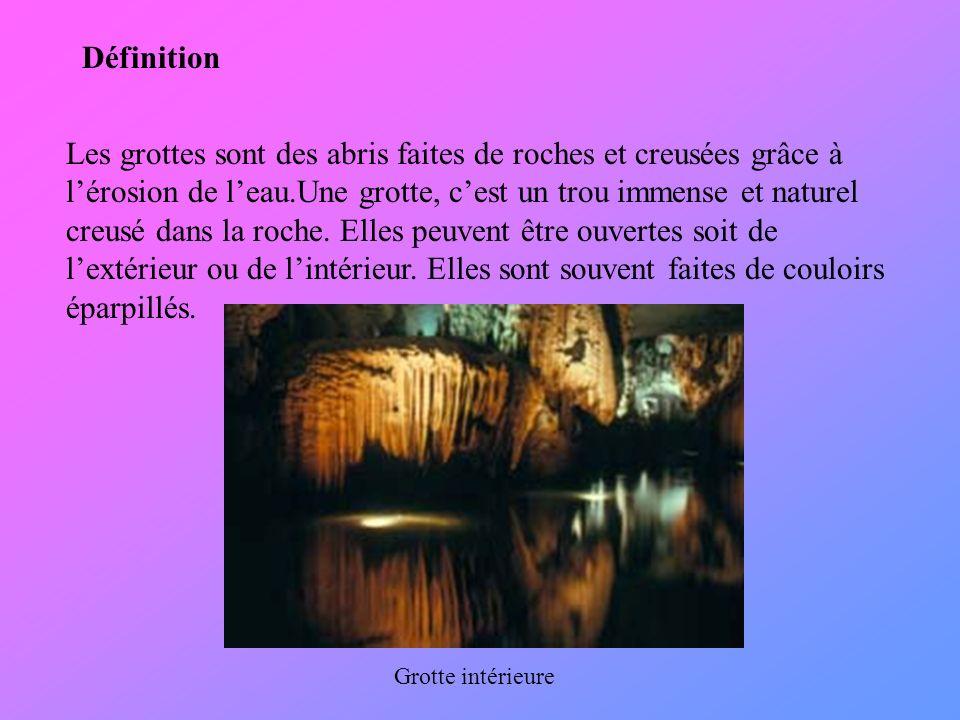 Les stalactites et stalagmites Les stalactites sont des formations que l on retrouve dans les grottes.