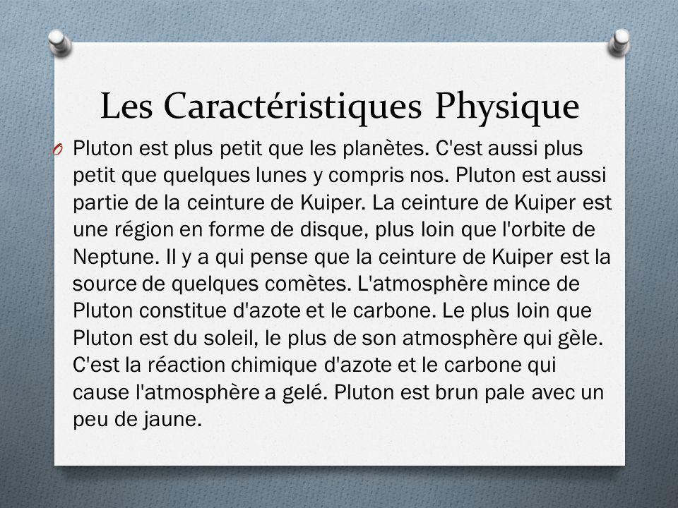 Les Caractéristiques Physique O Pluton est plus petit que les planètes. C'est aussi plus petit que quelques lunes y compris nos. Pluton est aussi part