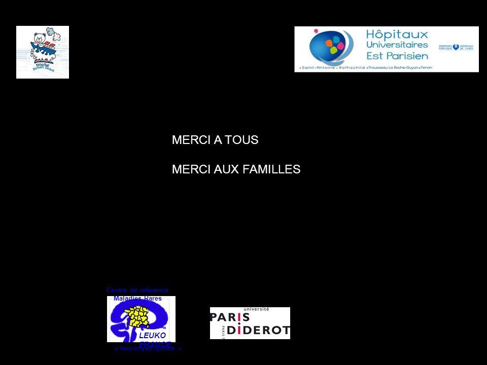 LEUKO FRANCE Centre de référence Maladies Rares « leucodystrophies » MERCI A TOUS MERCI AUX FAMILLES