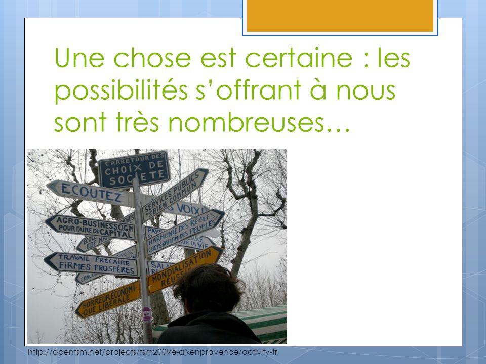Une chose est certaine : les possibilités soffrant à nous sont très nombreuses… http://openfsm.net/projects/fsm2009e-aixenprovence/activity-fr