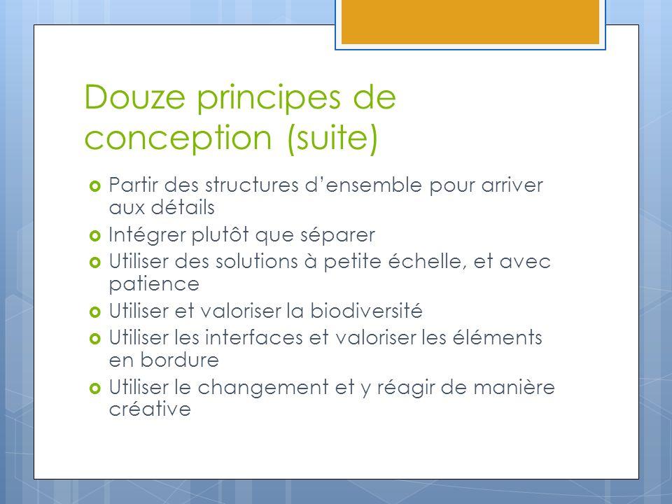 Douze principes de conception (suite) Partir des structures densemble pour arriver aux détails Intégrer plutôt que séparer Utiliser des solutions à pe