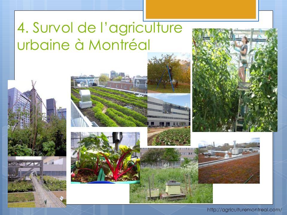 4. Survol de lagriculture urbaine à Montréal http://agriculturemontreal.com/