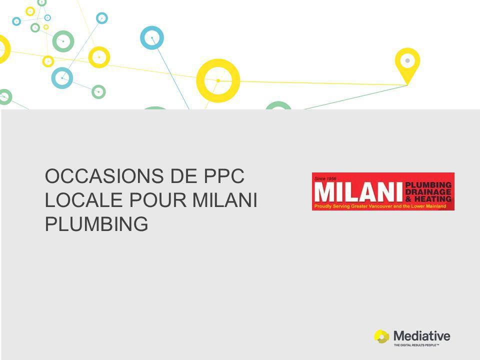 OCCASIONS DE PPC LOCALE POUR MILANI PLUMBING