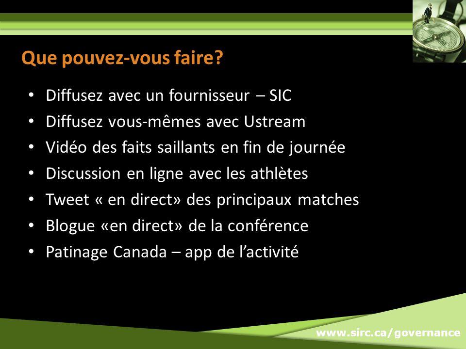 www.sirc.ca/governance Que pouvez-vous faire.