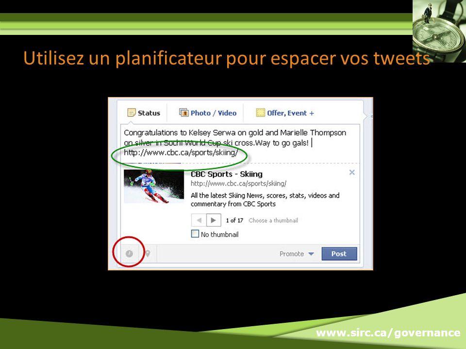 Utilisez un planificateur pour espacer vos tweets