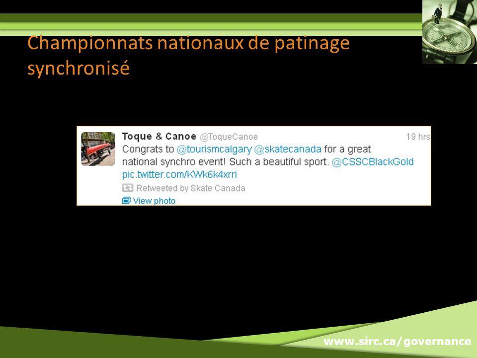 www.sirc.ca/governance Championnats nationaux de patinage synchronisé