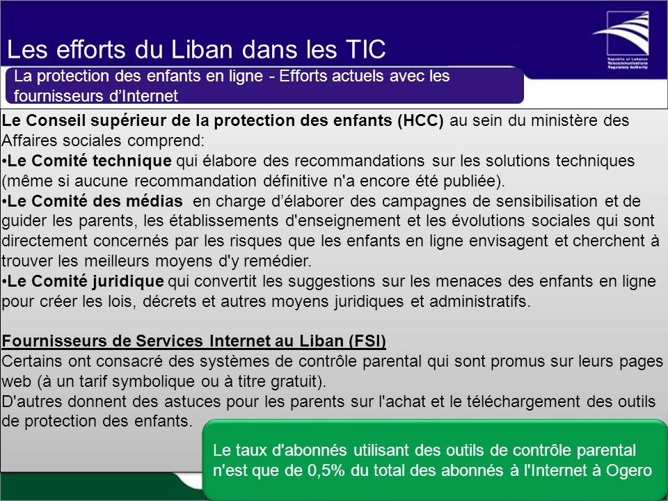 Le Conseil supérieur de la protection des enfants (HCC) au sein du ministère des Affaires sociales comprend: Le Comité technique qui élabore des recommandations sur les solutions techniques (même si aucune recommandation définitive n a encore été publiée).