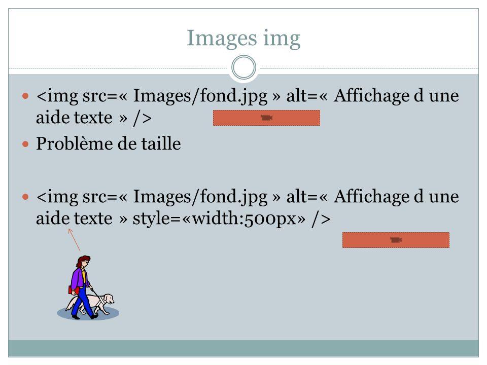 Images img Problème de taille