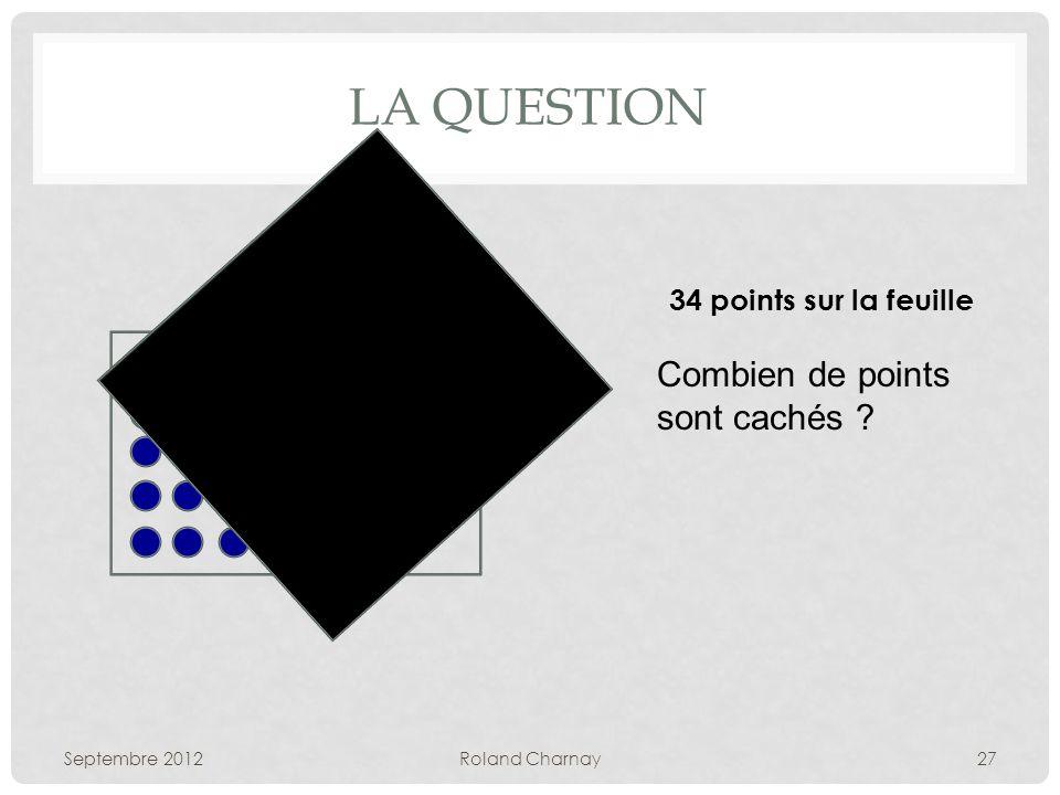 LA QUESTION Septembre 2012Roland Charnay27 34 points sur la feuille Combien de points sont cachés ?