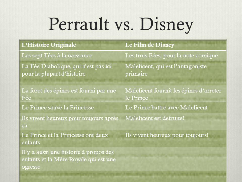Perrault vs. Disney