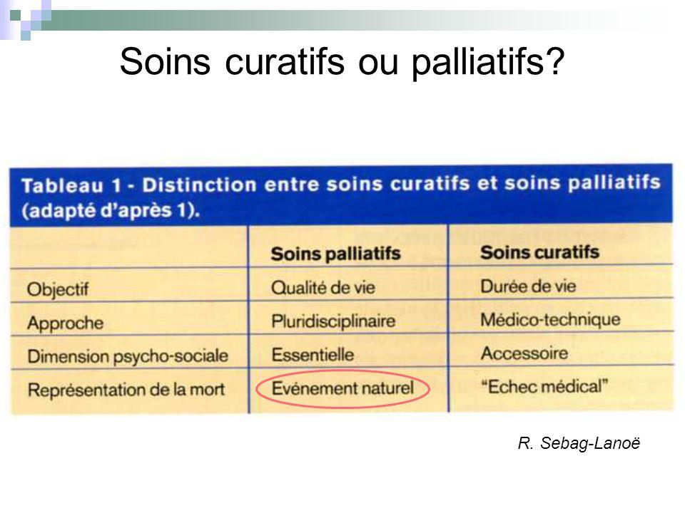 Soins curatifs ou palliatifs? R. Sebag-Lanoë