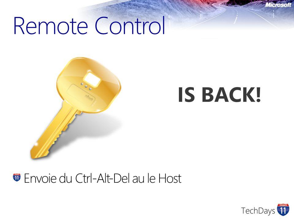Remote Control Envoie du Ctrl-Alt-Del au le Host IS BACK!