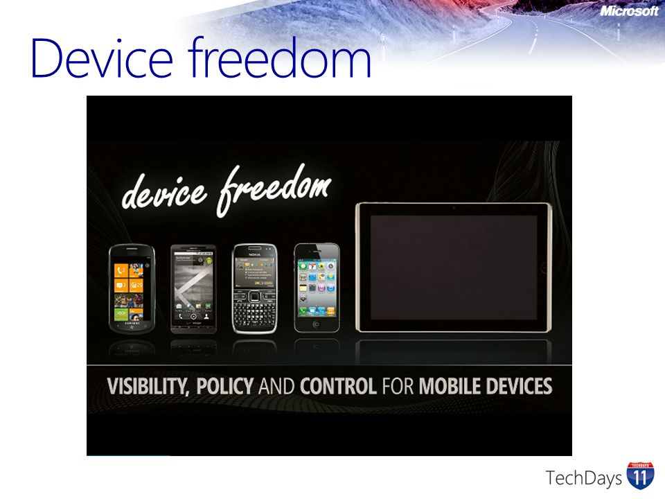 Device Management Pas seulement Windows Mobile Windows Phone 7 iPhone iPad Android Symbian