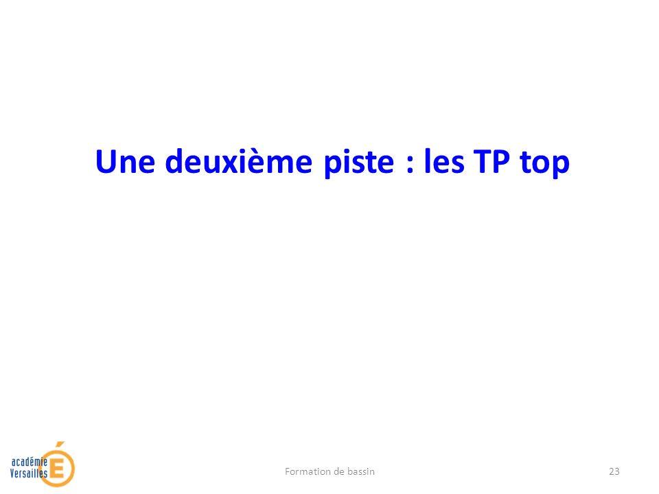Une deuxième piste : les TP top Formation de bassin23