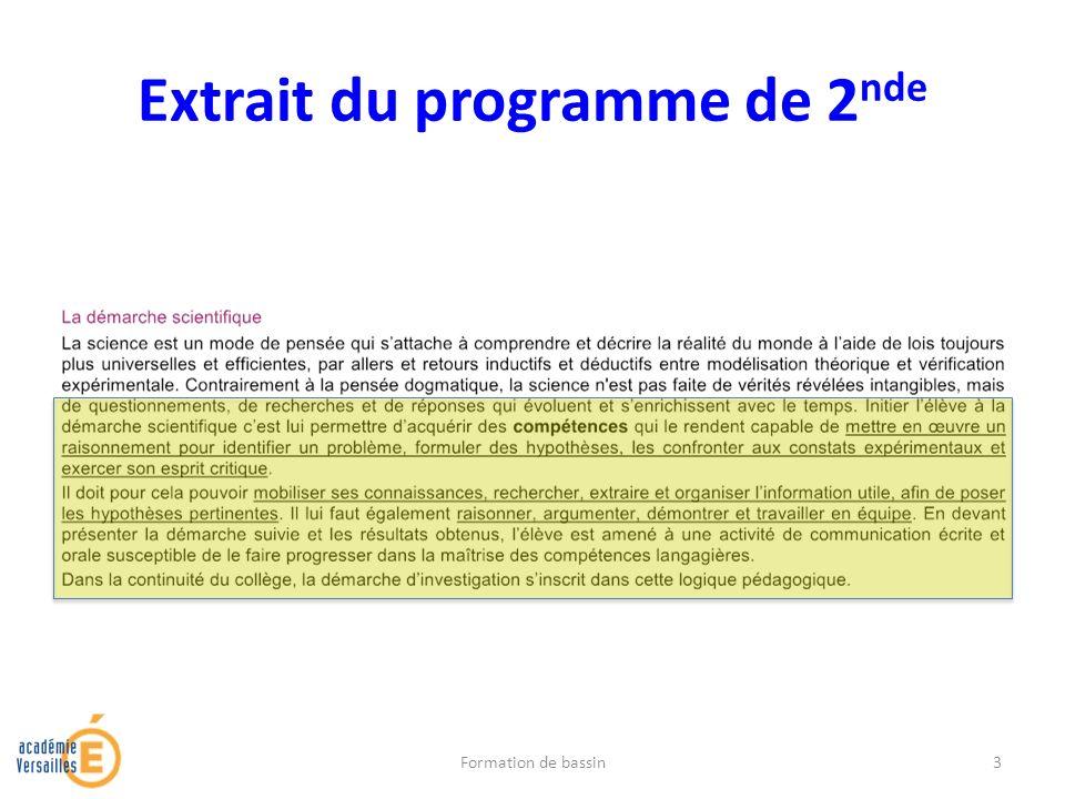Extrait du programme de 2 nde Formation de bassin3