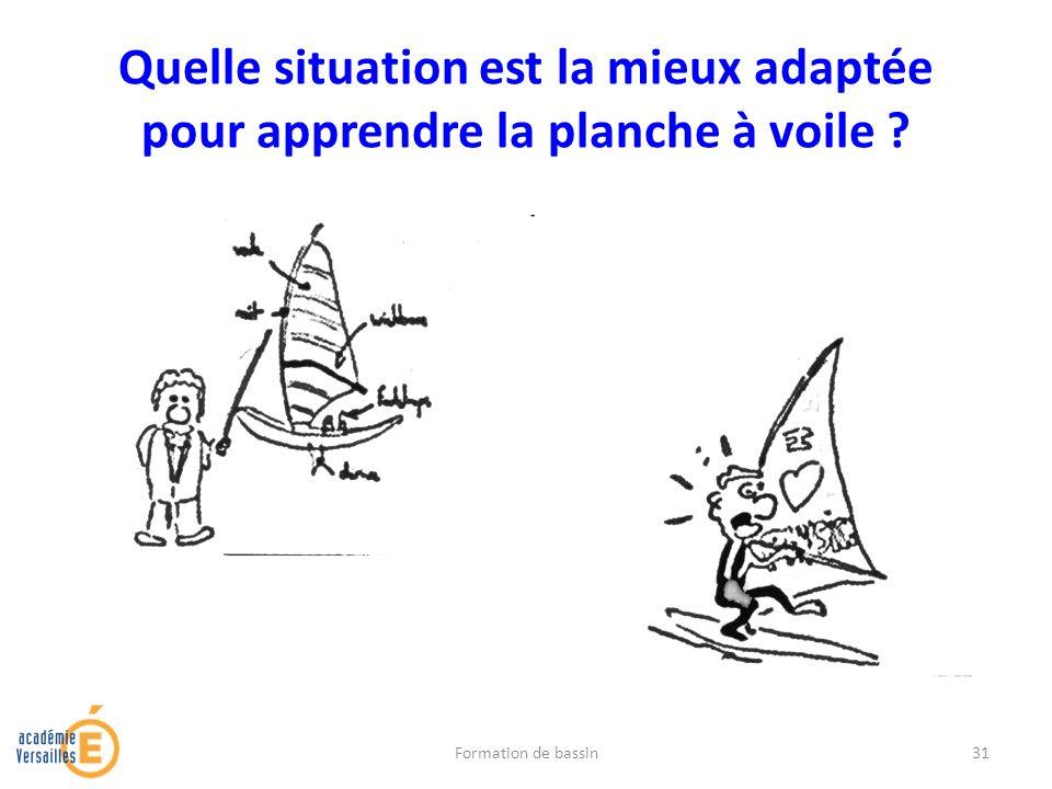 Quelle situation est la mieux adaptée pour apprendre la planche à voile ? Formation de bassin31