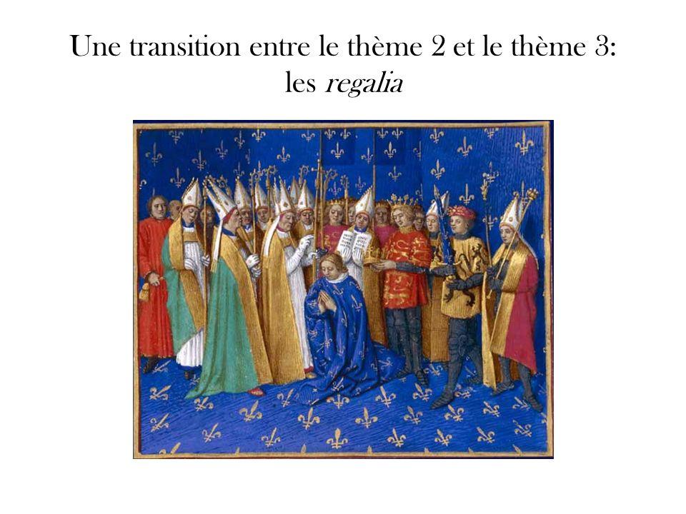 Epée du sacre dite de Charlemagne ou Joyeuse Pommeau : Xe - XIe siècle ?, quillons : XIIe siècle Provient du trésor de l abbaye de Saint-Denis Or et acier.