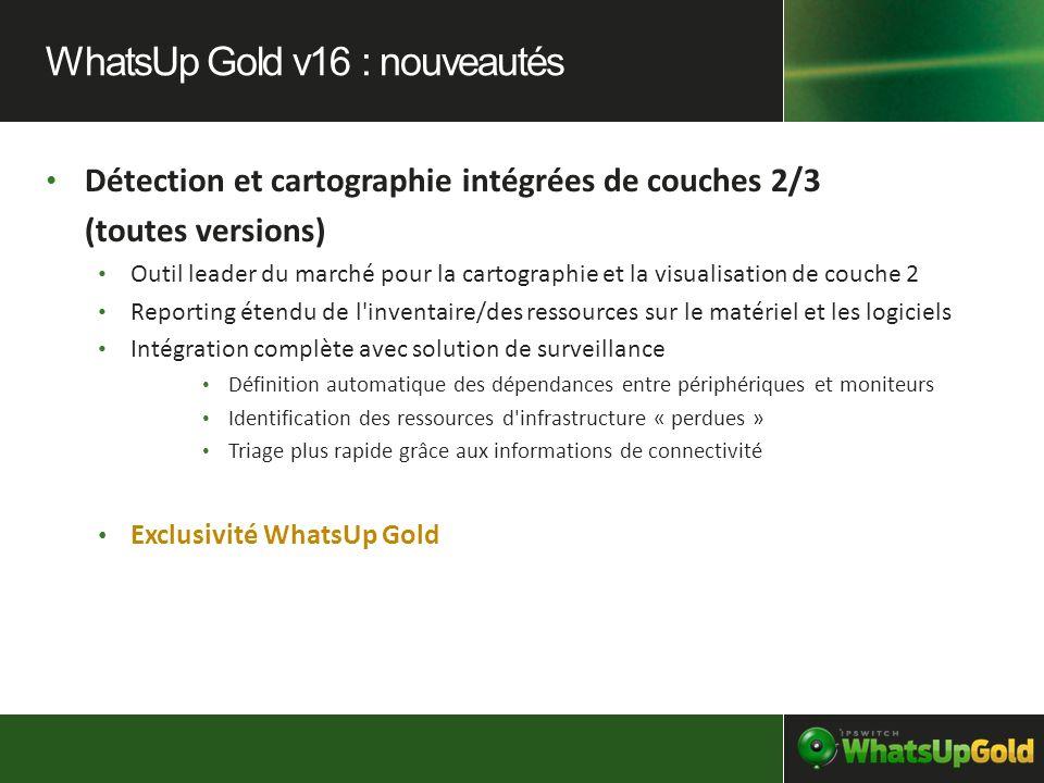 Détection et cartographie intégrées de couches 2/3 (toutes versions) Outil leader du marché pour la cartographie et la visualisation de couche 2 Repor