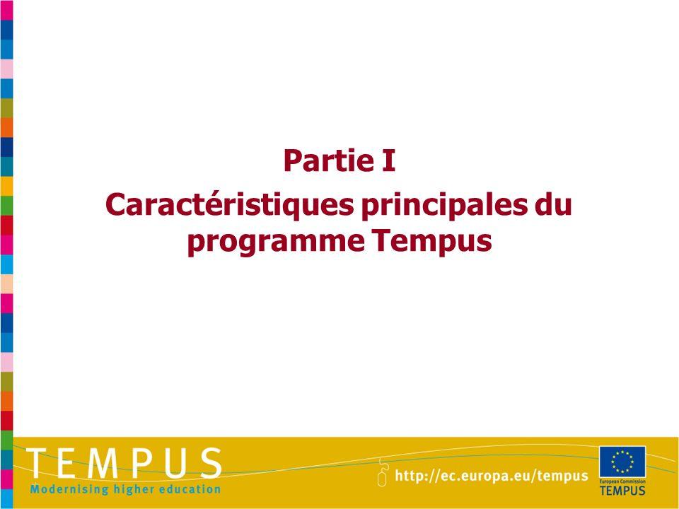 Partie I Caractéristiques principales du programme Tempus
