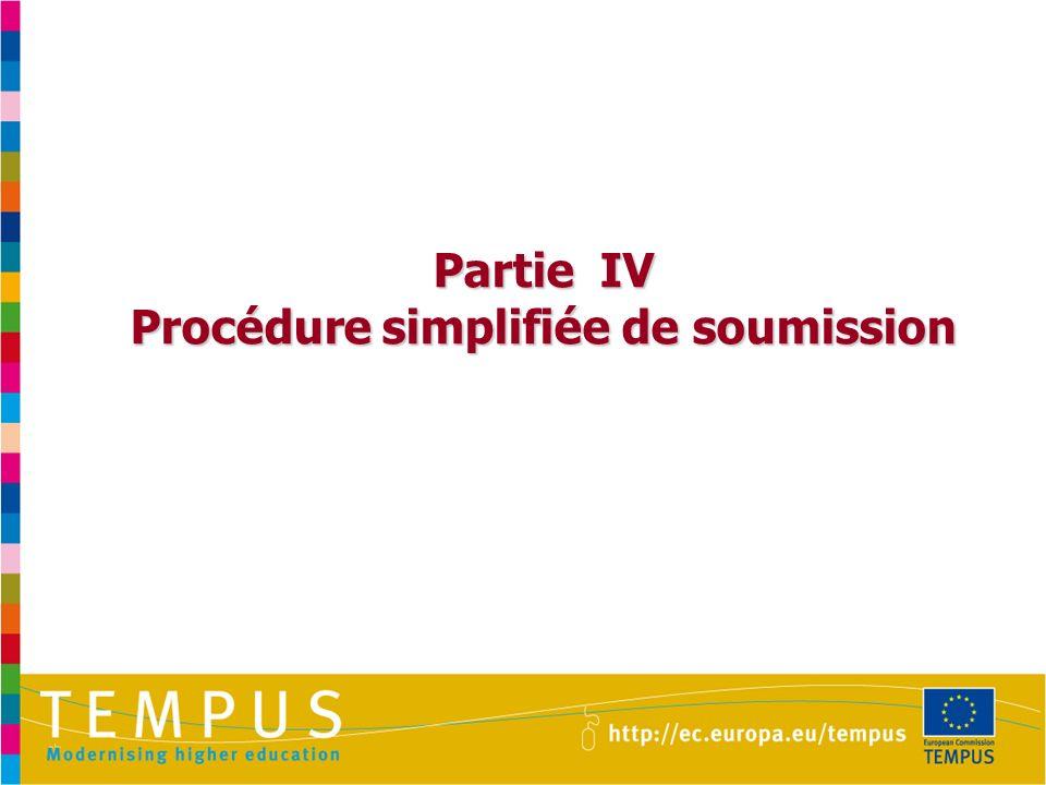 Partie IV Procédure simplifiée de soumission
