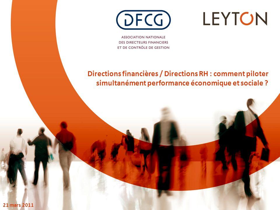 Directions financières / Directions RH : comment piloter simultanément performance économique et sociale .