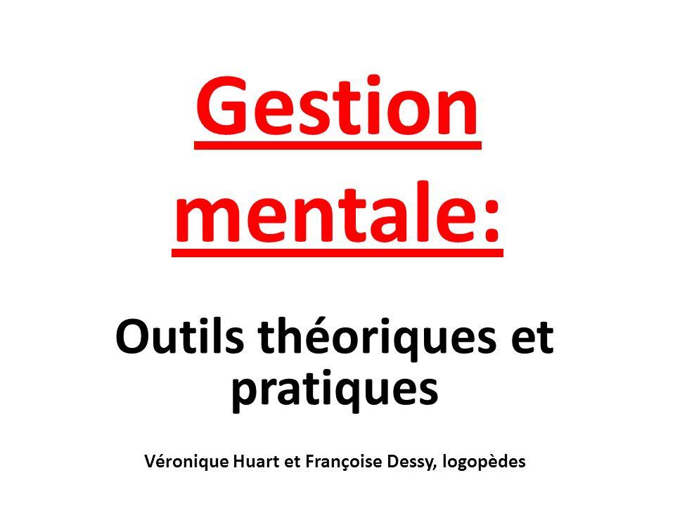 Gestion mentale: Outils théoriques et pratiques Véronique Huart et Françoise Dessy, logopèdes