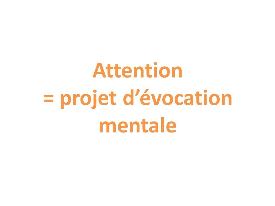 Attention = projet dévocation mentale