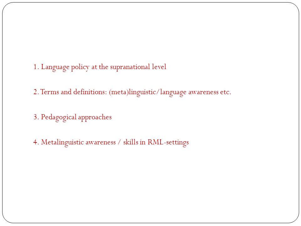 Pedagogical approaches