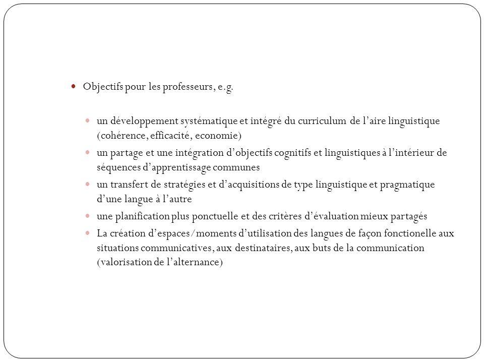 Objectifs pour les professeurs, e.g.