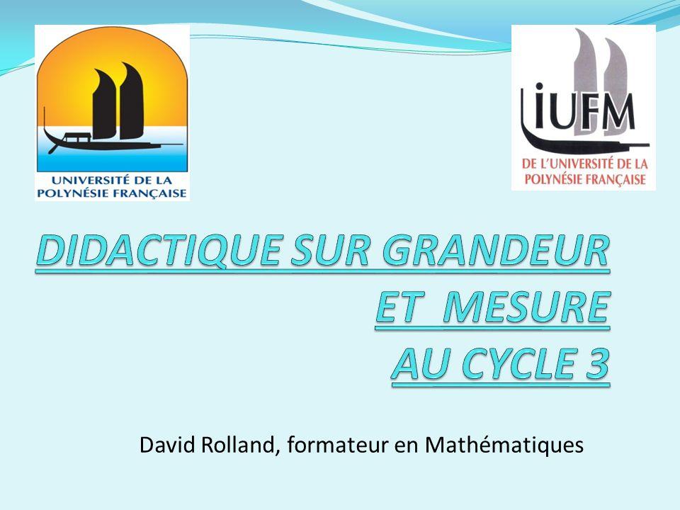 David Rolland, formateur en Mathématiques
