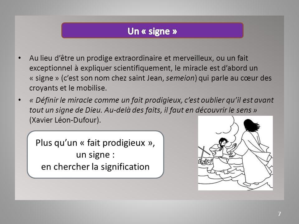 Au long de lhistoire, des miracles opérés par des témoins, les saints, dans des lieux (de pèlerinage, dapparition) comme Lourdes, Fatima.