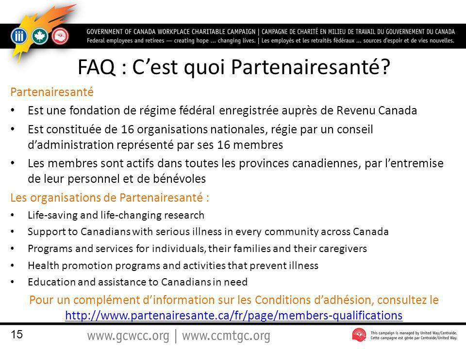 FAQ : Cest quoi Partenairesanté.