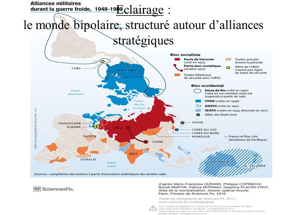 Eclairage : le monde bipolaire, structuré autour dalliances stratégiques