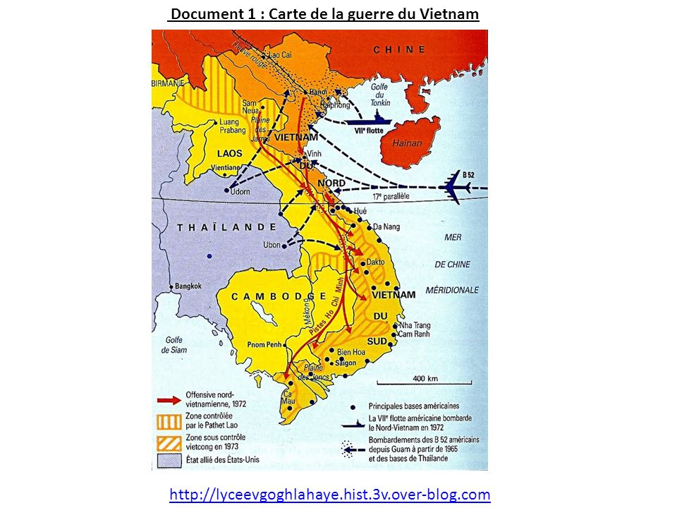 Document 1 : Carte de la guerre du Vietnam http://lyceevgoghlahaye.hist.3v.over-blog.com