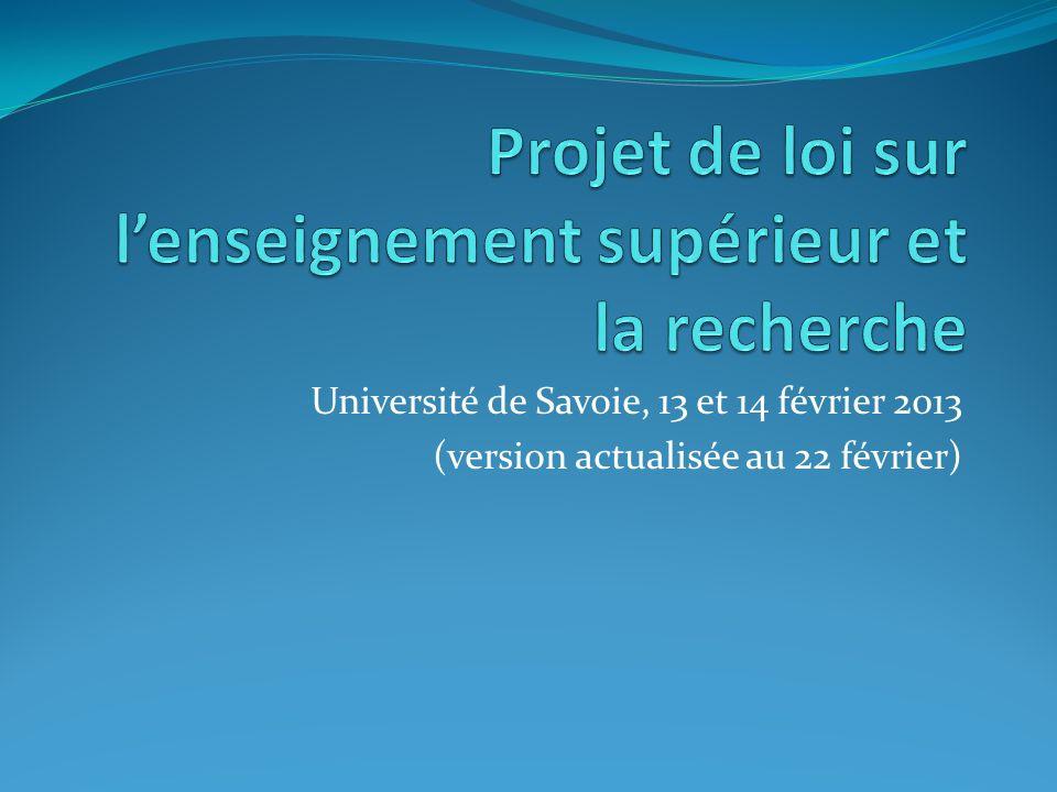 Contexte 17 décembre 2012 - Remise du rapport du Comité des Assises de lEnseignement supérieur et de la Recherche.