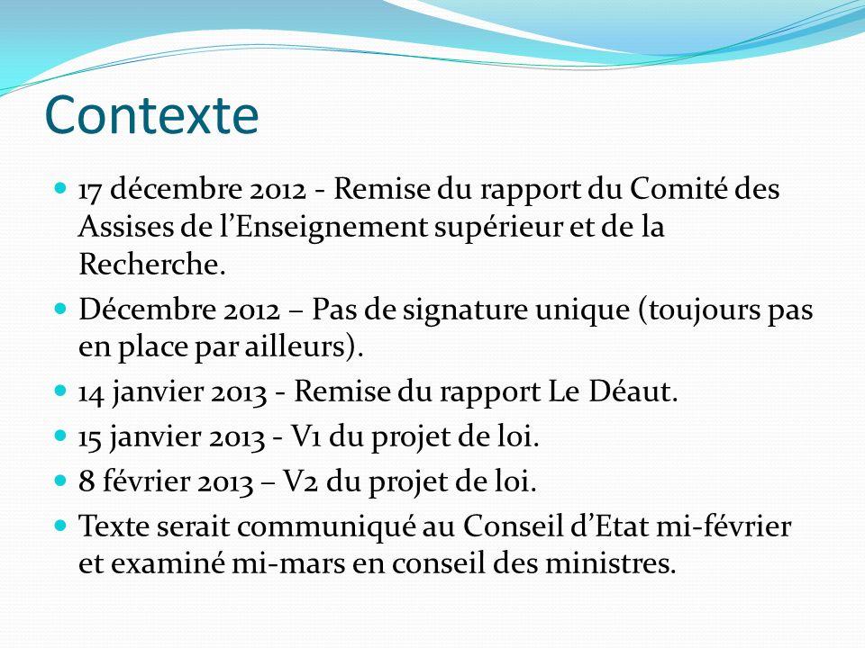 Actions menées (1) Une analyse du texte par léquipe présidentielle UdS : - Des mesures organisationnelles qui complexifient le fonctionnement.