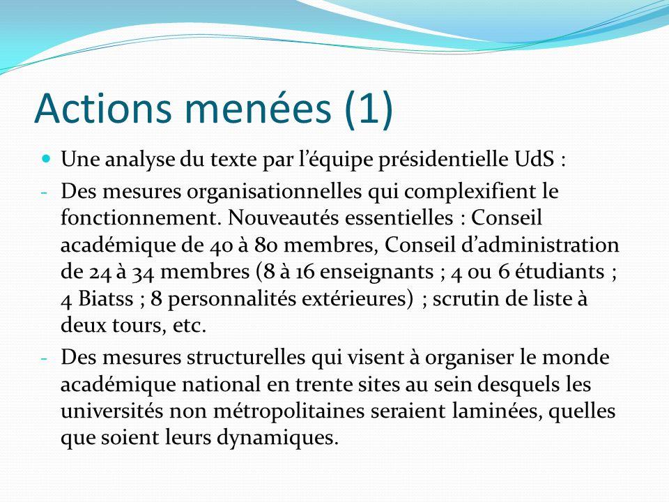 Actions menées (2) 18 janvier – Participation au Comité stratégique de Chambéry Métropole.