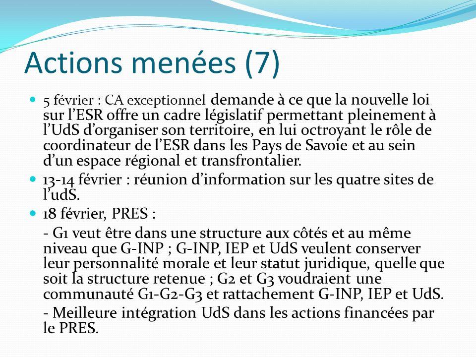 A venir prochainement Le Conseil général de la Haute-Savoie entendra le président de lUdS le 25 janvier.