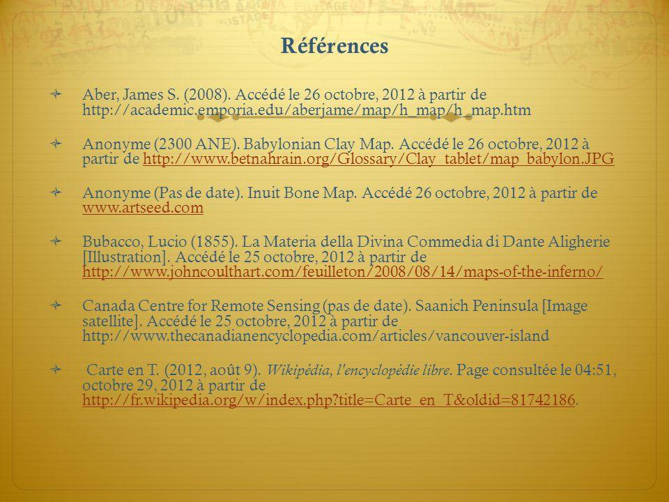 Références Aber, James S. (2008). Accédé le 26 octobre, 2012 à partir de http://academic.emporia.edu/aberjame/map/h_map/h_map.htm Anonyme (2300 ANE).