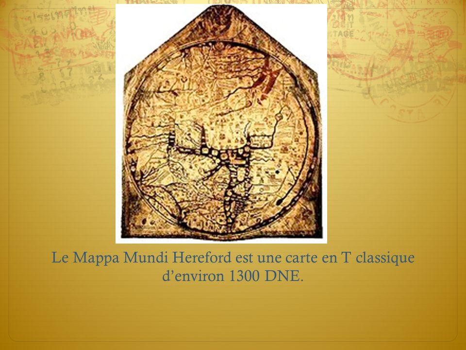 La carte en tréfle de Bunting de 1581 est une variation des cartes en T, et montre des éléments mythiques et des nouveaux découverts.
