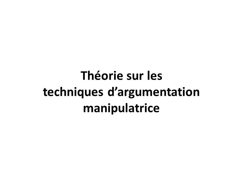 Théorie sur les techniques dargumentation manipulatrice