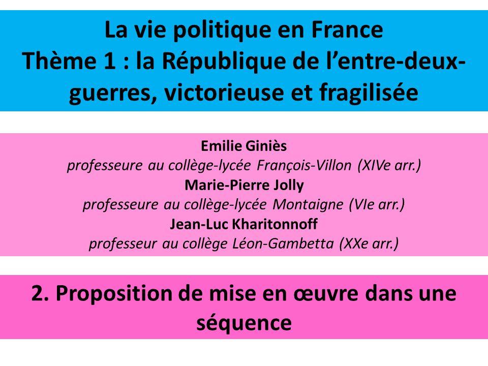 II.La République en crise et le Front populaire B.