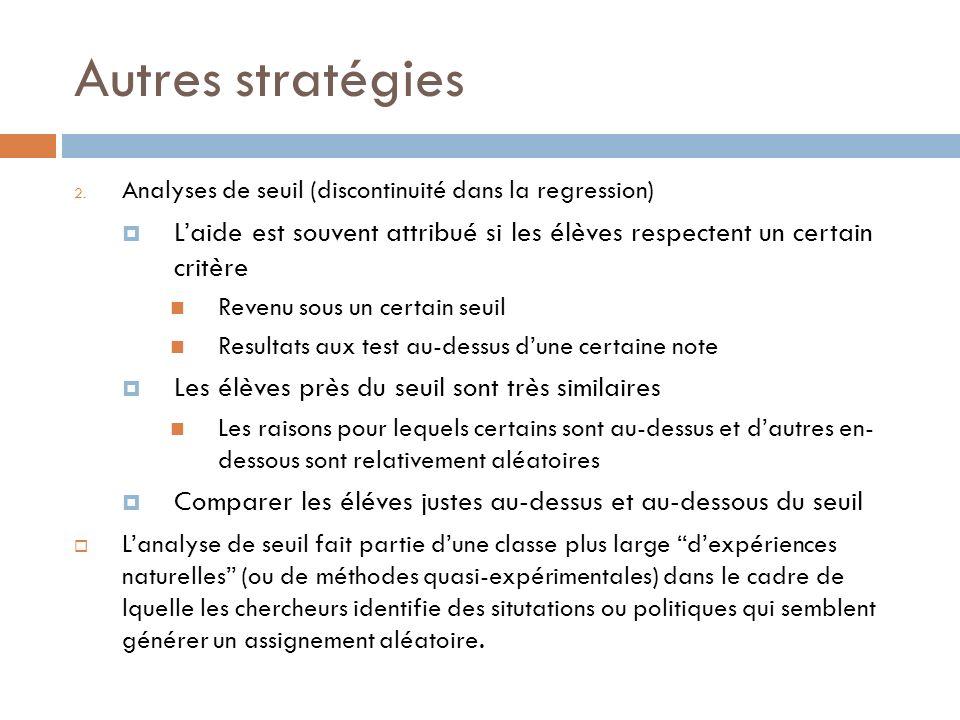 Autres stratégies 2.